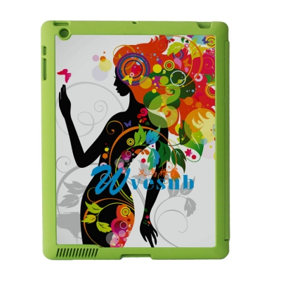 Sublimation Sub Magnetic Flip iPad Case-Green