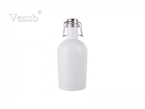 64oz/2000ml Sublimation Growler (White)