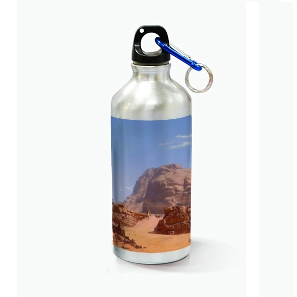 600ml Aluminium Water Bottle-Silver