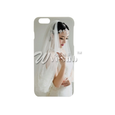 High Quality 3D Sublimation White Coated iPhone 6 Plus Cover