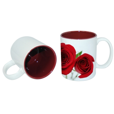 11oz Two-Tone Color Mug-Maroon