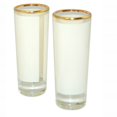 1.5oz Shot Glass Mug With Gold Rim