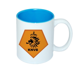 11oz Two-Tone Color Mug-Light Blue