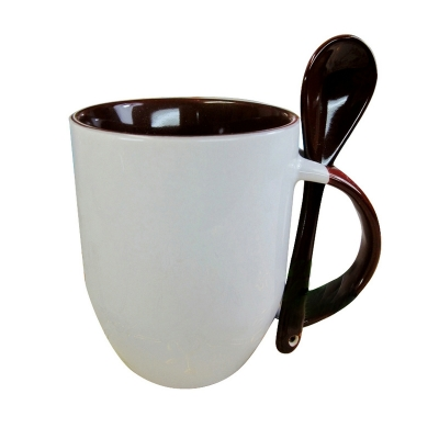 11oz Spoon Mug-Brown