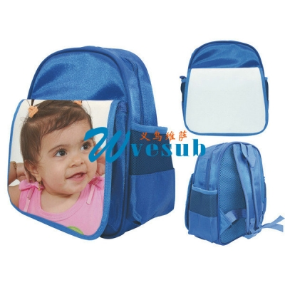 Dye Sublimation Blue Color Kid School Bag