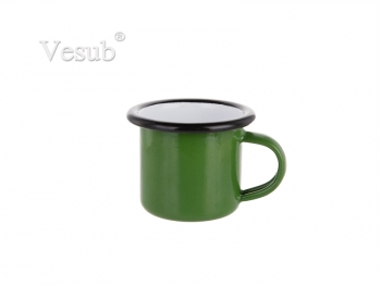 3oz/100ml Enamel Mug (Green, Black Edge)