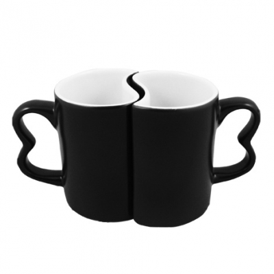Color Changing Couple Mugs-Black