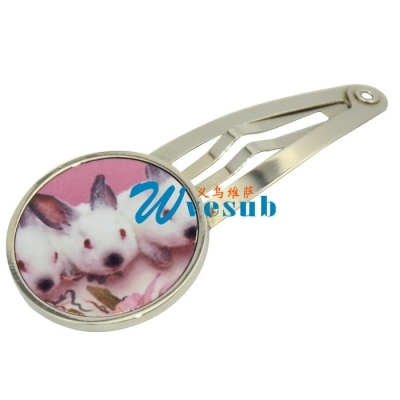 Sublimation Round Girl Hairpin