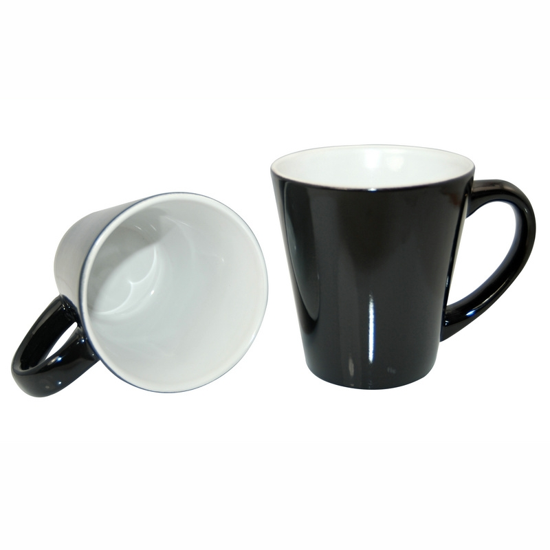 12oz Color Change Cone Mug-Black