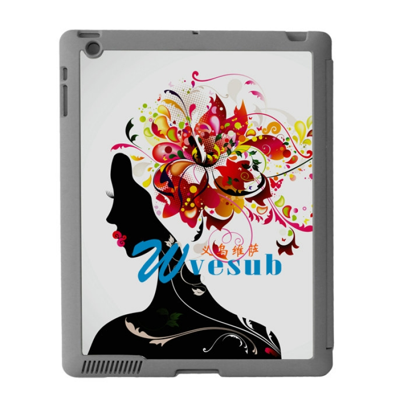 Sublimation Sub Magnetic Flip iPad Case-Grey