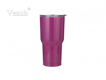 30oz Stainless Steel Tumbler (Purple)