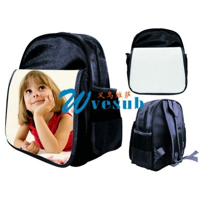 Dye Sublimation Black Color Kid School Knapsack