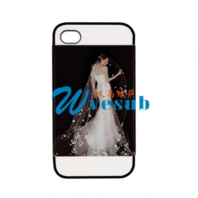 2 in 1 3D iPhone 4/4S Frosted Card Insert Cover-Black