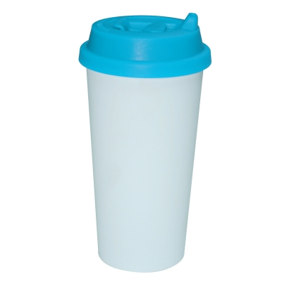 450ml Double Wall Sublimation Tumble(Revsible Cover)-Light Blue