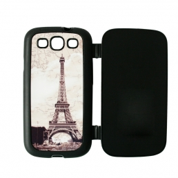 Samsung Galaxy S3 i9300 Foldable Rubber Cover-Black