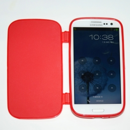Samsung Galaxy S3 i9300 Foldable Rubber Cover-Red