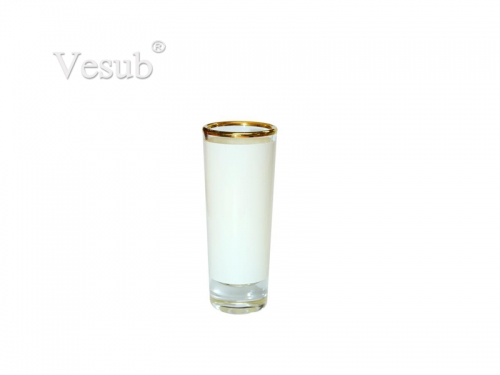3oz Shot Glass Mug With Gold Rim