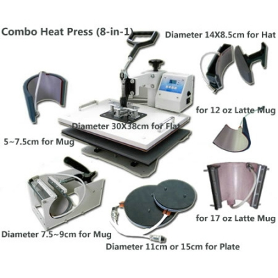 Combo Heat Press (8-in-1)