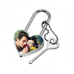 Sublimation Metal Lock-Heart