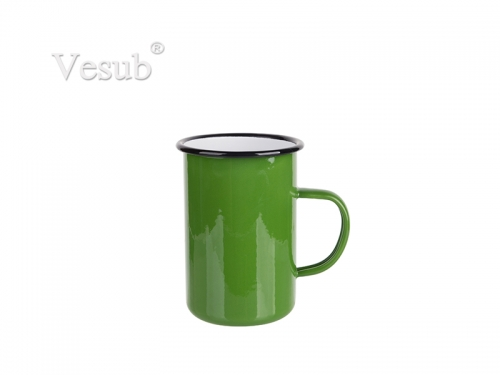 15oz/450ml Enamel Mug (Green) MOQ:2000pcs