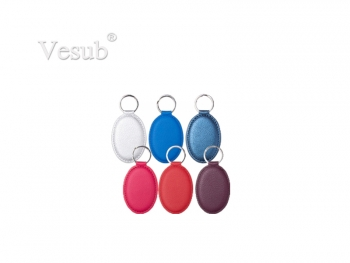 Engraving Leather Keychain (4.5*6.5cm, Oval)