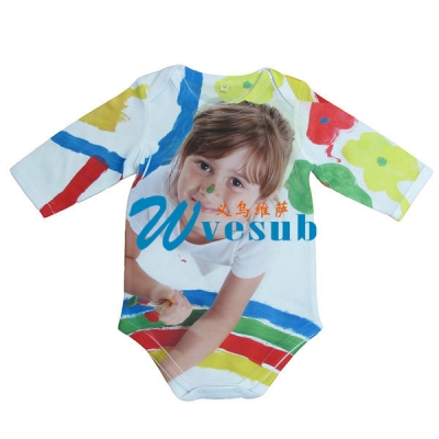 Dye Sublimation 0-3 Month Baby's Onesies Long Sleeve