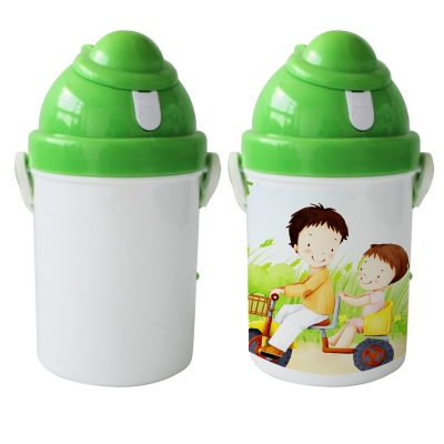 400Ml Sublimation Kid Bottle-Green