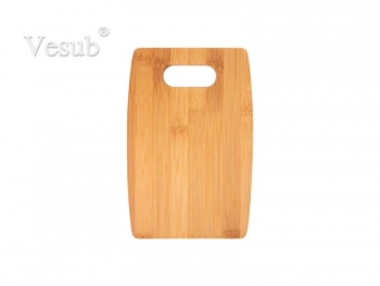 Arc Shaped Bamboo Cutting Board (22.86*15.24*1.1cm) MOQ:1000pcs