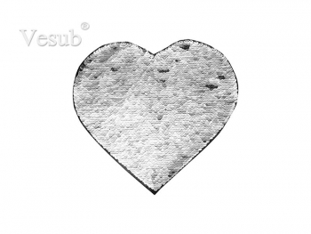 Flip Sequins Adhesive (Heart, Silver W/ White)