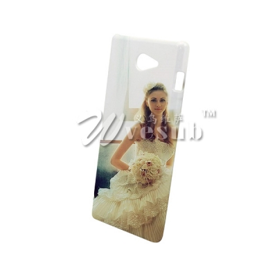3D Sublimation Sony Xperia M2 Cover Glossy