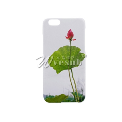 High Quality Customized 3D White Glossy Coated iPhone 6 Case