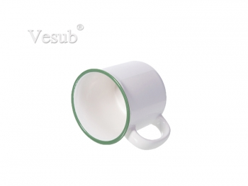 10oz/300ml Ceramic Enamel Mug-Green
