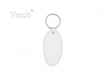 PU Leather Key Chain (Oval)