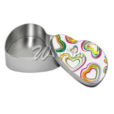 Sublimation Heart Metal Tin