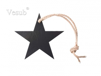 "5"" Star Slate Ornament"
