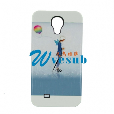 2 in 1 3D Samsung S4 Frosted Card Insert Cover-White