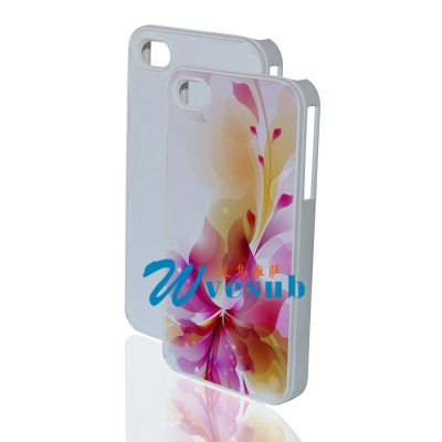 High Quality Sublimation iPhone4/4s Cover-White
