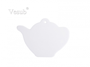 Teapot Ceramic Coaster w/ Cork