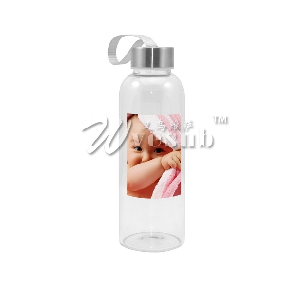 420ml Sublimaiton Glass Bottle with Square White Patch