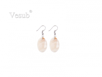 Oval Shell Earring (17.5*25mm)