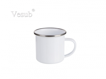 6oz/180ml White Enamel Mug (White)