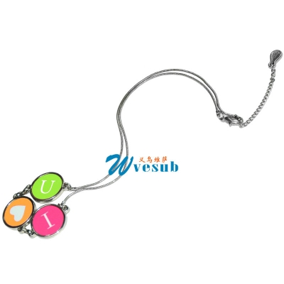 Fashion sublimation necklace 01-Round