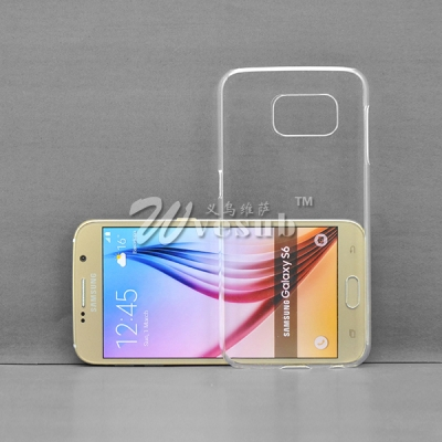 3D Sublimation Blank Phone Case for Samsung Galaxy S6  Cover(Coated, Clear Glossy)
