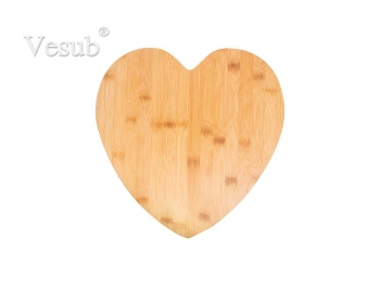 Heart Shaped Bamboo Cutting Board (33.5*33.5*1.5cm) MOQ:1000pcs