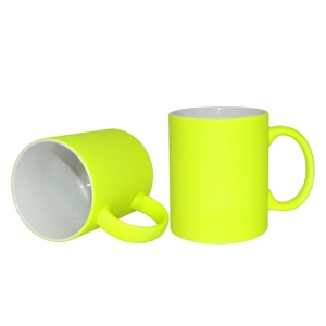 Wholesale Creative Mugs 11oz Sublimation Mug Customized Printing Mug Drink Water Cup Full Color Mug-Light Yellow