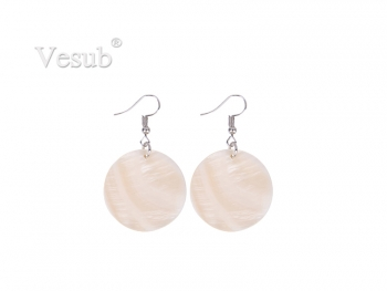 Round Shell Earring (φ30mm)