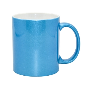 High Quality 11oz Sparking Sublimation Mug-Lake Blue
