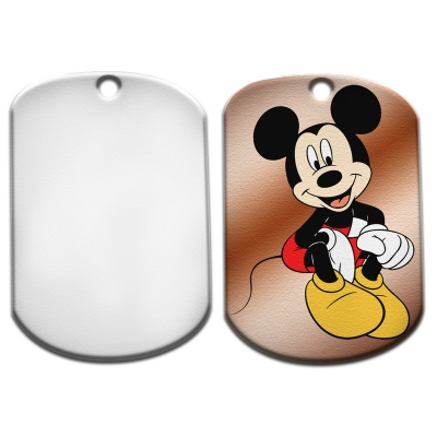Dog Tag-Square with Round Corner