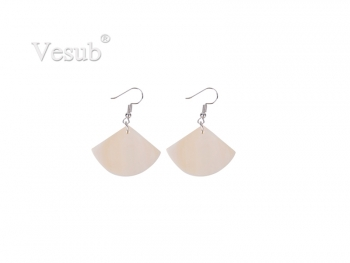 Fan-Shaped Sublimation Shell Earring