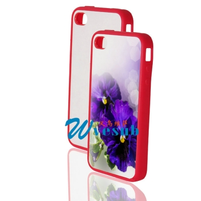 High Quality Blank Sublimation iPhone 4 4s Cover-Red